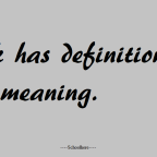 Definition that gives meaning.