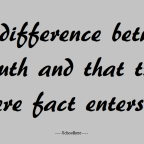 If only you have known the difference between the both