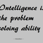 Problem solving ability